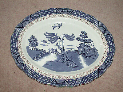 Booths Real Old Willow  Serving  / Meat Plate A8025 • 9.99£