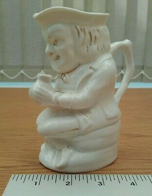 Vintage Character Toby Jug White Man Seated Unbranded In Good Condition • 12.99£