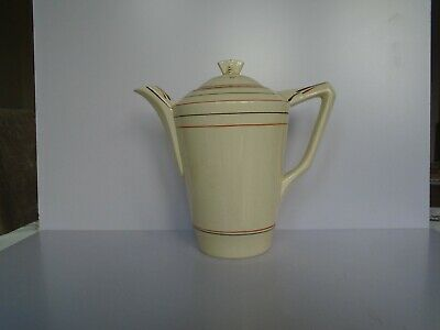 Vintage Art Deco China Coffee Pot By Crown Ducal • 4.99£