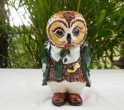 Cinque Ports Pottery Rye Oliver Owl Country Gentleman Figurine • 80£