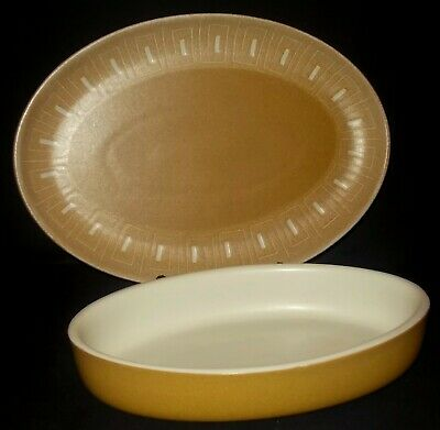 Denby ODE Oval Platter And Oven Dish • 12£