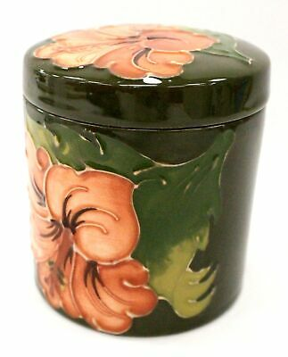 Vintage MOORCROFT  ANEMONE  Pattern POTTERY Lidded Jar/ Caddy - N06 • 11£