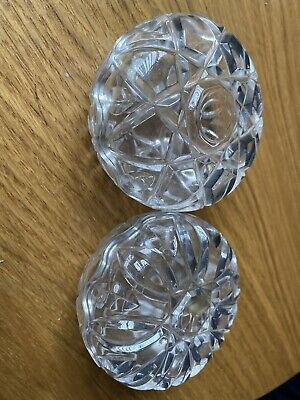 Pair Of Lead Crystal Royal Crystal Rock Trinket Dishes Bowls  • 4.75£