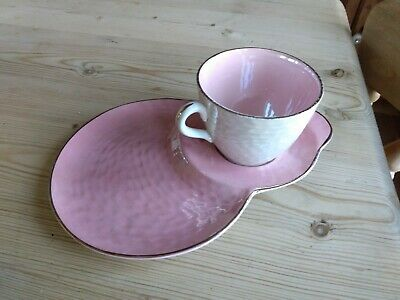 Vintage Maling   Tennis  Cup And Snack Plate In Pale Pink Lustre • 8£