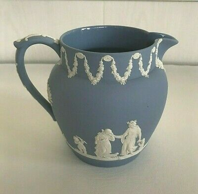 Wedgwood Blue Jasperware 1951 Water Jug In Excellent Condition . • 17.99£