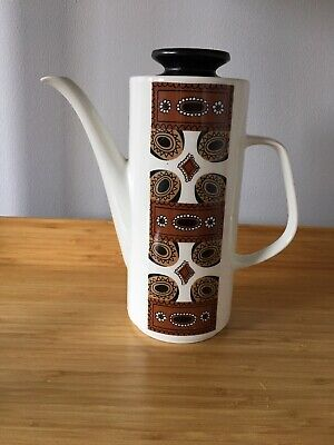 Studio Pottery Meakin Maori Coffee Pot Retro Vintage Kitchen Design  • 7.99£