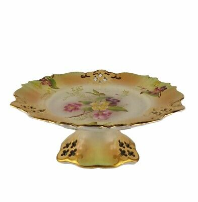 Comport Footed Dish Carlton Ware Pedestal Cake Stand Pearlware Lustre Floral • 17.99£