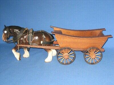 Vintage Sylvac Pottery Carthorse And Wooden Cart • 9.99£