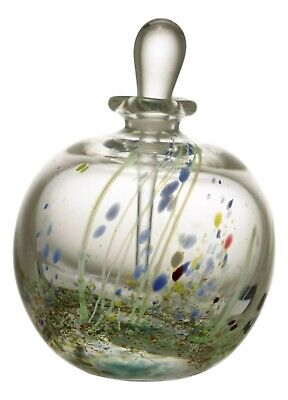 SIGNED Studio Glass Perfume / Scent Bottle 4 1/8  Tall  • 49.99£