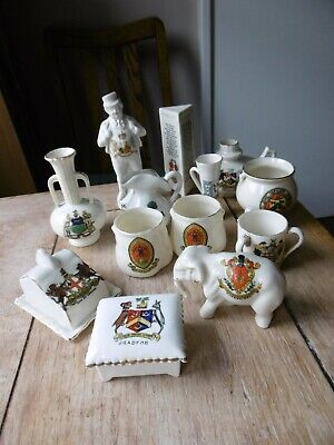 Lot Of Collectable Vintage Crested China  , Manxman , Elephant Plus • 5£