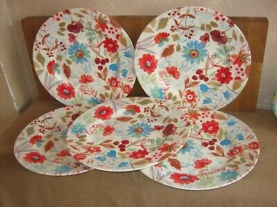 Poole Floral Dinner Plates X 5 • 15£