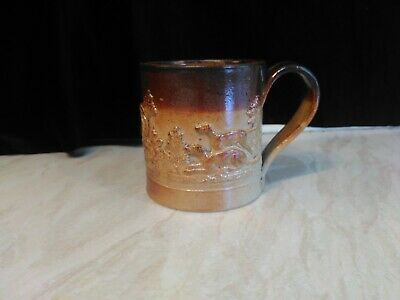 Antique Salt Glaze Tankard With Dogs And Pheasants Scenes. • 15£