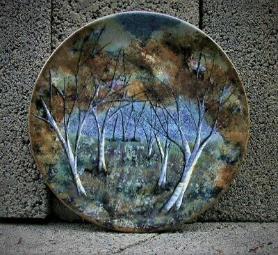 A RARE Highland Stoneware Plate - WOODLAND - LIMITED EDITION - SIGNED & NUMBERED • 185£