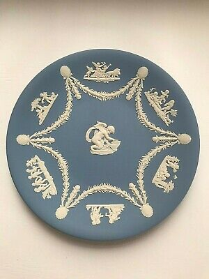 Wedgwood Blue Jasperware Plate  In Excellent Condition . • 7.99£