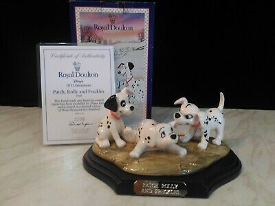 Royal Doulton 101 Dalmatians Patch, Rolly & Freckles 1997 Only. L/E Of 3500 DM5 • 20£