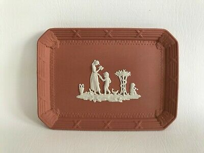 Wedgwood Terracotta  Jasperware Oblong  Small Tray In Excellent Condition . • 29.99£
