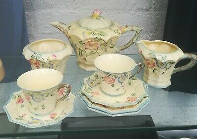 Vintage Beswick Tea For Two Embossed Flowers Pattern 8185  • 24.99£