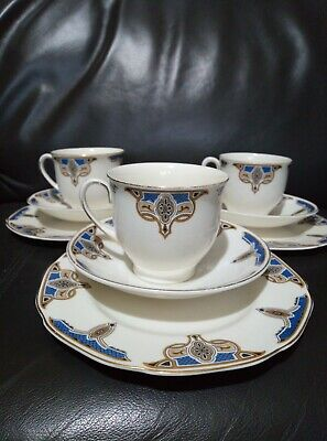 Grindley Tunstall Balmoral 9pc Cup And Saucer Set • 6£