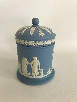 Wedgwood  Blue Jasperware Lidded Jar In Excellent Condition . • 19.99£