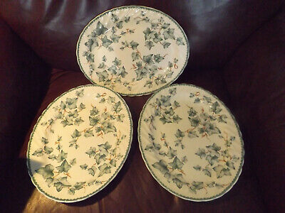 3 X Bhs Country Vine Oval Steak Plates Approx 12 Inch Or 31 Cms Platters • 22.99£