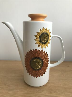 Vintage J&G Meakin Coffee Pot Sunflowers Palma Design • 6£