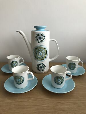 Vintage J&G Meakin Coffee Set - Includes Coffee Pot, Cups And Saucers. • 10£