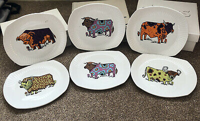 Beefeater Steak And Grill Plates. English Ironstone Pottery. 6 Plates • 45£