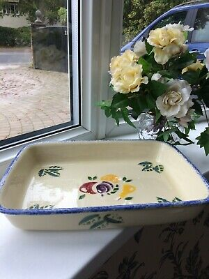 Poole Pottery Dorset Fruits Large Gratin Dish With Four Fruit Design • 18£