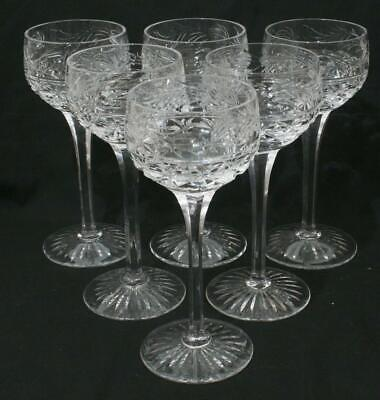 Superb Vintage Stuart Crystal Mansfield Hock Glass X 6 Lot #2 7  In Height • 59.99£