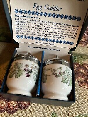 Pair Of Royal Worcester Egg Coddlers Lavinia Design Boxed • 9£