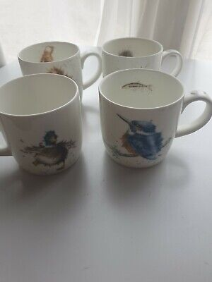4 Royal Worcester Wrendale Mugs. Unused But No Tags • 25£