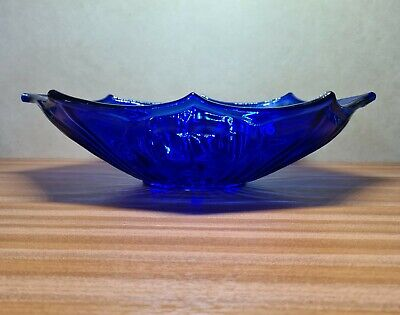 Vtg Pressed Glass Cobalt Blue Blue Bowl  • 22£