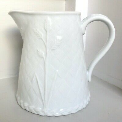 Royal Worcester Gourmet Oven China White Jug Pitcher  • 14£