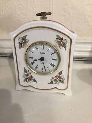 """Spode Porcelain Decoratve Small Cabinet Collection Clock 6""""Tall • 35£"""