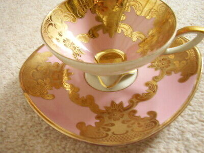 RV Bavaria Germany Porcelain -china Tea Cup And Saucer,fully Hand Painted. • 25£
