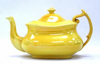 Vintage Style YELLOW CARLTON WARE TEAPOT Large Made In England W&R  - D14 • 4.99£