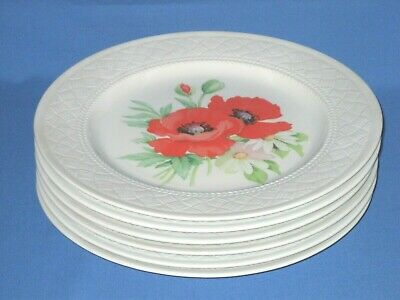 Royal Worcester  Poppies  Dinner Plates (x6) • 9.99£