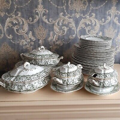Antique Royal Doulton Burslem Peel Dinnerware Selection • 15£