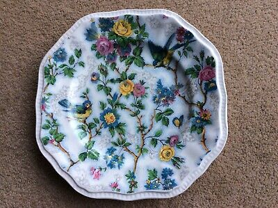 Vintage Collectable Kensington Staffordshire-broadhurst Octagonal Chinz Plate • 1.99£