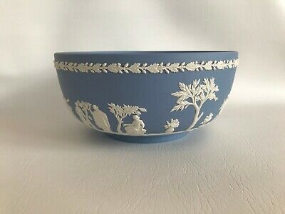 Wedgwood Blue Jasperware  Fruit Bowl In Excellent Condition . • 29.99£