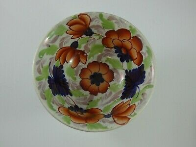 Antique 19th Century Gaudy Welsh Pansy Footed Sugar Bowl • 12.95£