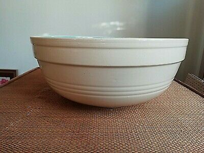 T. G. Green Cream & Blue Mixing Bowl -rare Retro- Mid 20thc  • 12.99£