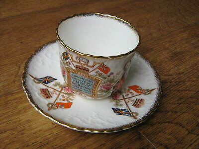 1887 China Cup & Saucer: Commemorate 60 Years Reign Of Queen Victoria: England. • 14.99£