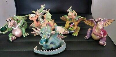 Franklin Mint Mood Dragons.set Of 5.limited Edition.mint Condition. • 150£