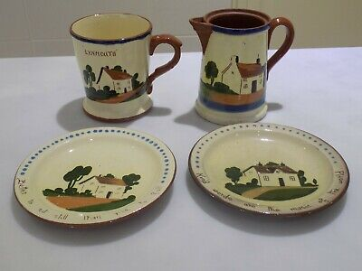 TORQUAY POTTERY-(Jug/Mug/2 Plates)-Please See Photos & Description)-Excellent. • 12£