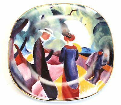 ROSENTHAL The Bradford Exchange 'Promenade' August Macke COLLECTOR'S PLATE - H24 • 4.49£