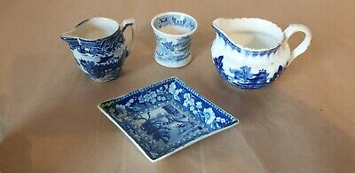 Blue & White Pottery 19th Century Transfer Printed • 20£