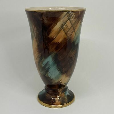 J FRYER & SON OLDCOURT WARE  Wide Mouth Lusterware Hand-Painted Cup VASE • 9.99£
