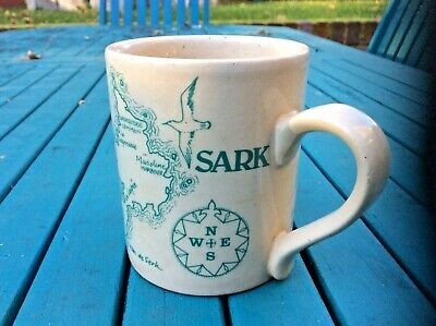 Rare SARK Perfumery MUG * CHANNEL ISLANDS * Stoneware * VGC • 9.99£
