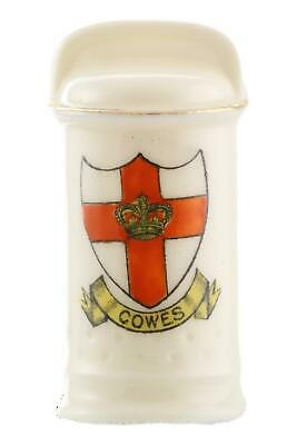 Arcadian China Crested WW1 Model Of A Trench Lamp COWES Crest • 24.99£